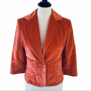 Cynthia Steffe Blazer Jacket Coral Velvet M